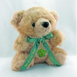 5 Leaf Clover Honey Lucky Teddy Bear