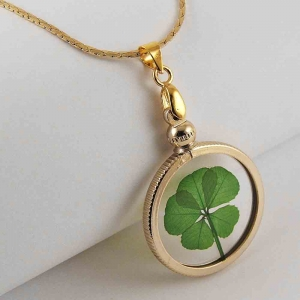 5 Leaf Clover Gold Charm Necklace