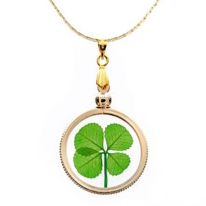 Four Leaf Clover Gold Charm Necklace