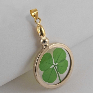 Four Leaf Clover Gold Plated Charm Pendant