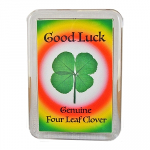 Four Leaf Clover Good Luck Fridge Magnet