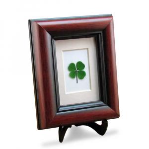 Four Leaf Clover Mahogany Frame
