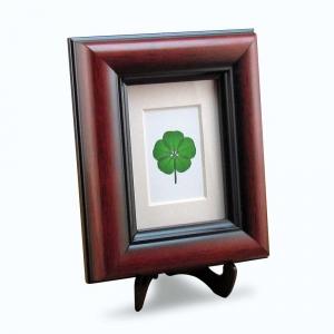 5 Leaf Clover Mahogany Frame