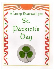 st patrick shamrock greeting card