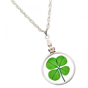 Four Leaf Clover Silver Charm Necklace