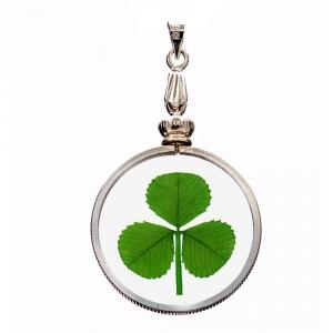 Shamrock (3 Leaf Clover) Silver Charm Pendant