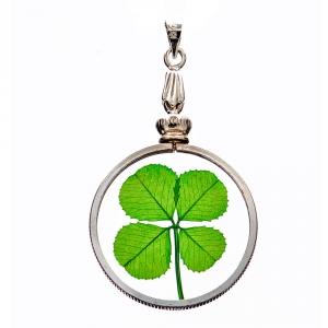 Four Leaf Clover Silver Charm Pendant