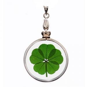 5 Leaf Clover Silver Charm Pendant