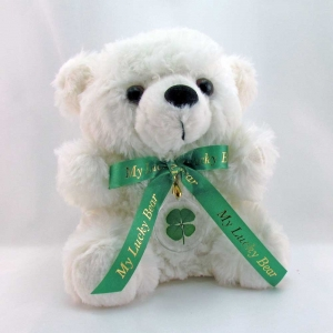White Lucky Teddy Bear