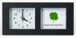 four leaf clover desk clock