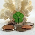 5 Leaf Clover Good Luck Pocket Token