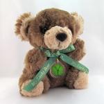 5 Leaf Clover Brown Lucky Teddy Bear