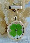 Four Leaf Clover Gold Charm Pin Tie Tack