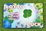 four leaf clover lucky lotto wallet card
