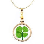 Four Leaf Clover Gold Charm Necklace