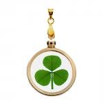Shamrock (3 Leaf Clover) Gold Plated Charm Pendant