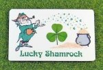 lucky shamrock wallet card