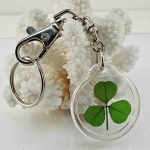 Real Shamrock Trigger Snap Keychain