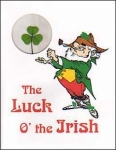 shamrock leprechaun greeting card