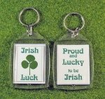 shamrock proud to be irish key tag