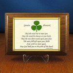 shamrock walnut plaque