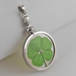 5 Leaf Clover Silver Charm Pendant