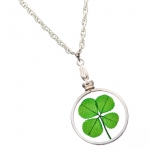 Four Leaf Clover Silver Charm Necklace