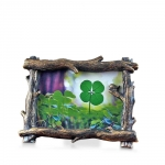 Tree Branch Frame with a Four Leaf Clover