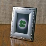 Real Four Leaf Clover Two-Tone Silver Frame